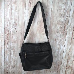 Vintage Bags - Vintage black leather shoulder bag